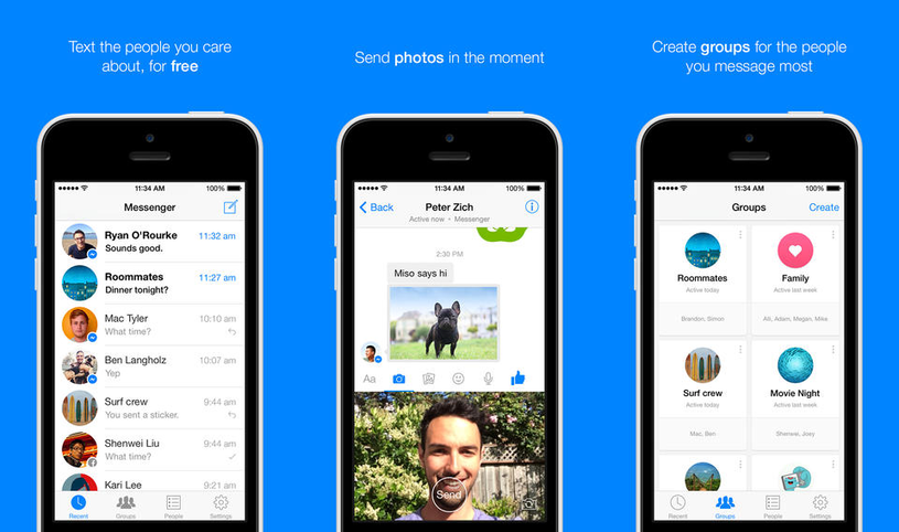 Facebook Messenger jako jedna z nielicznych aplikacji nie od Google'a, która osiągnęła liczbę 500 mln pobrań ze sklepu Google Play /materiały prasowe
