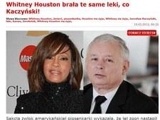 """""""Faktowi"""" udało się połączyć śmierć Whitney Houston z Jarosławem Kaczyńskim"""