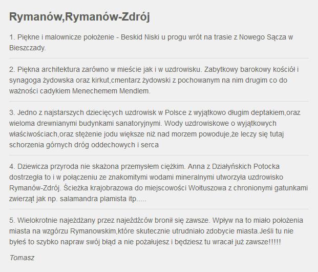 Fakty z Twojego Miasta. Zgłoszenie Rymanowa /RMF24