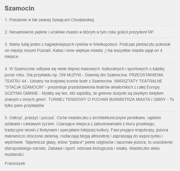 Fakty z Twojego Miasta. Zgłoszenie Szamocina /RMF24