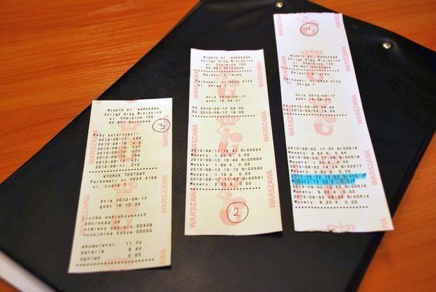 Fałszywe bilety parkingowe /Policja