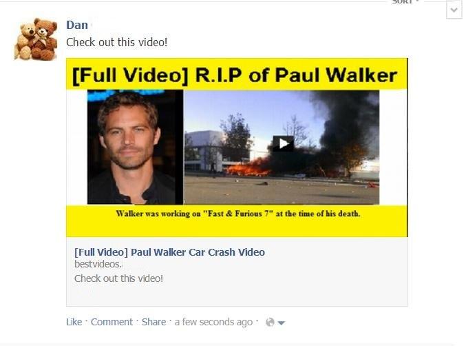 Fałszywe wideo rzekomo przedstawiające śmierć Paula Walkera /materiały prasowe