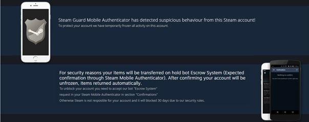 Fałszywy komunikat oprogramowania Steam Stealer /materiały prasowe