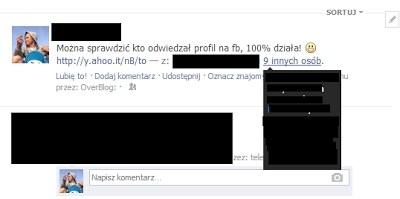Fałszywy post poświęcony usłudze sprawdzania, kto odziedzał nasz profil na FB /materiały prasowe
