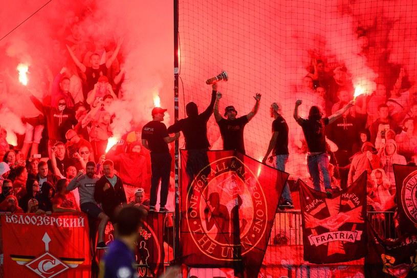 Fani Spartaka Moskwa podczas meczu w Mariborze /AFP