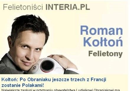 Felietonista INTERIA.PL - Roman Kołtoń. /INTERIA.PL