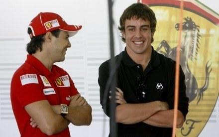 Felipe Massa i Fernando Alonso /AFP