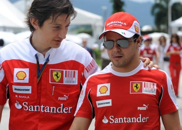 Felipe Massa (z prawej) liczy na dobry wynik w Chinach /AFP
