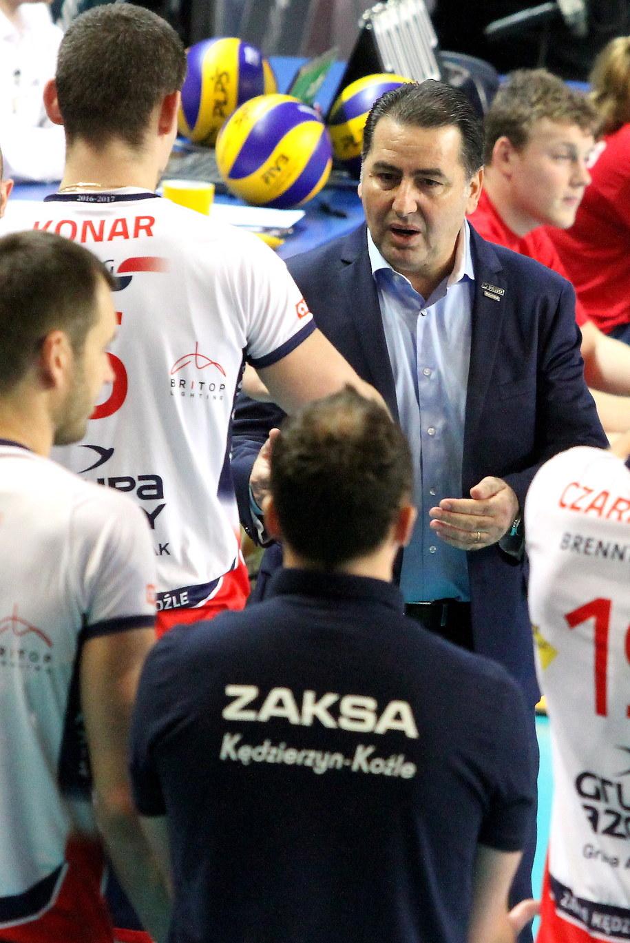 Ferdinando De Giorgi podczas meczu Zaksy /PAP/Krzysztof Świderski /PAP