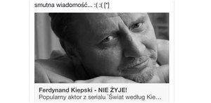 """""""Ferdynand Kiepski - nie żyje!"""" - uwaga na facebookowe oszustwo"""