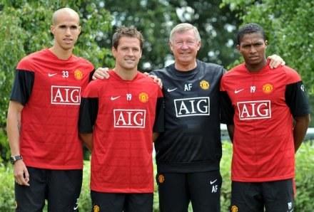 Ferguson i jego letnie wzmocnienia: Obertan, Owen i Valencia /AFP
