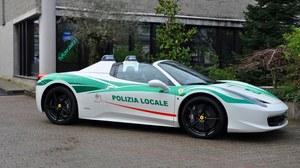 Ferrari 458 Spider w barwach włoskiej policji!
