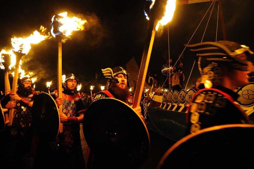 Festiwal wikingów na Wyspach Szetlandzkich /AFP