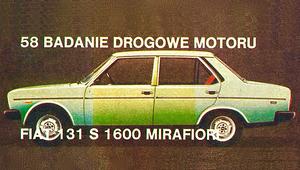 "Fiat 131 S 1600 Mirafiori - test ""Motoru"""