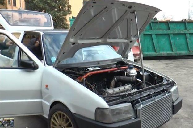 Fiat Uno zajęty przez włoską policję /
