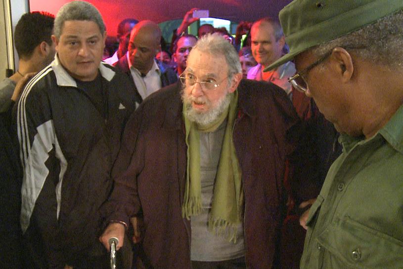Fidel Castro na obrazie wideo /STR /AFP