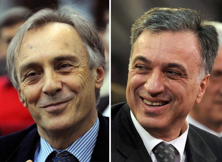 Filip Vujanović i Miodrag Lekić /AFP