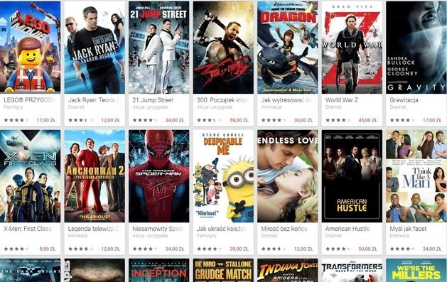 Filmy w Google Play dostępne są w standardowej jakości lub w rozdzielczości HD. /materiały prasowe