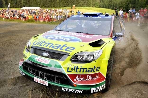 Fin Jari-Matti Latvala (Ford Focus)  na trasie /AFP