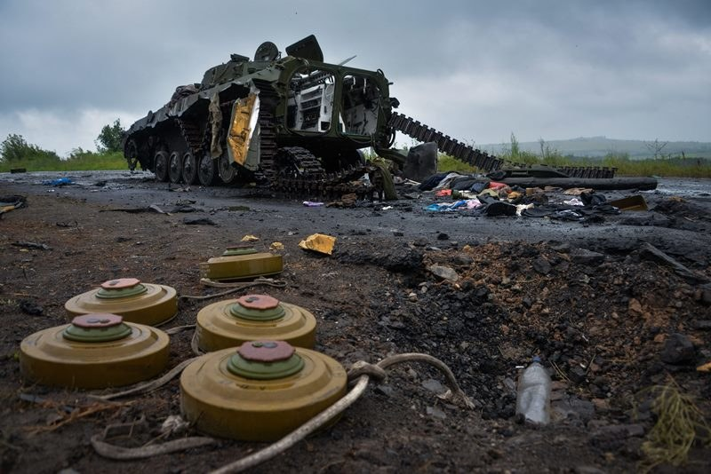 """""""Financial Times"""": Ukraińskie siły rządowe korzystają z pomocy USA /STR /PAP/EPA"""