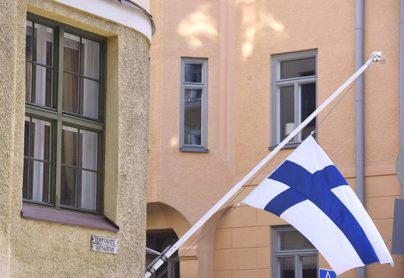 Fińska flaga w Helsinkach /AFP
