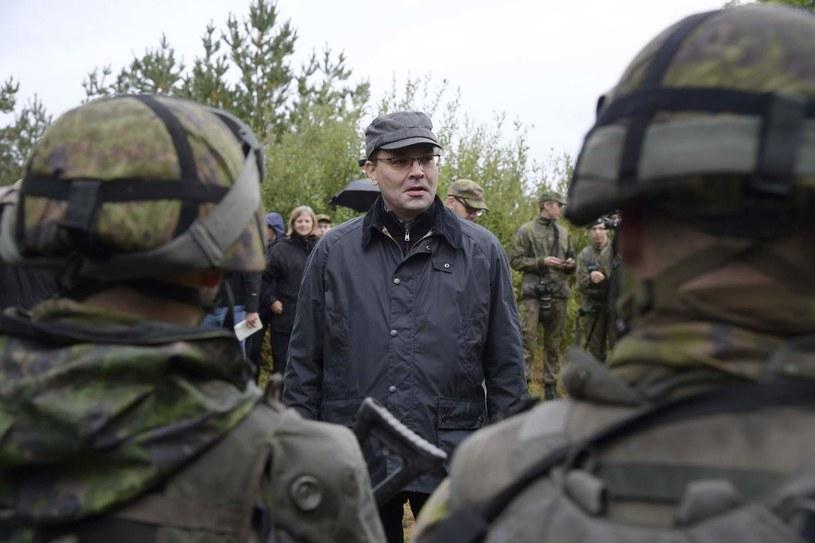 Fiński minister obrony Jussi Niinisto /AFP