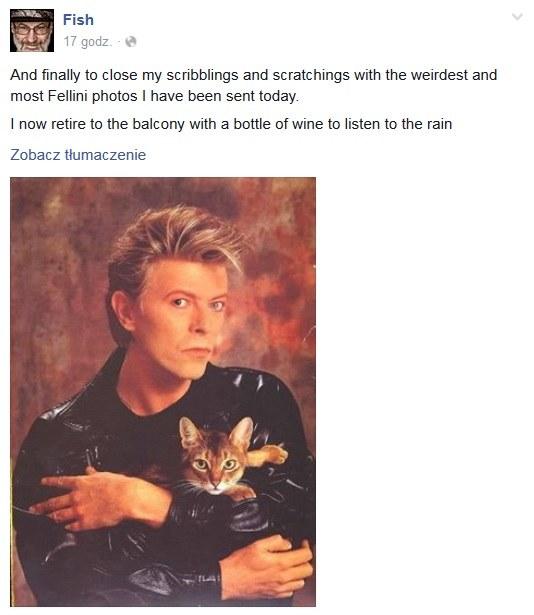 Fish żegna Davida Bowiego na Facebooku /&nbsp /