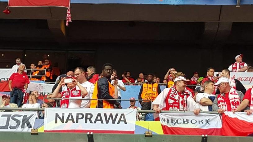 """Flaga """"Naprawa"""" dobrze była pilnowana. /Michał Białoński /INTERIA.PL"""