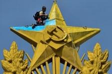 Flaga Ukrainy kilometr od Kremla. Dwie osoby zatrzymane