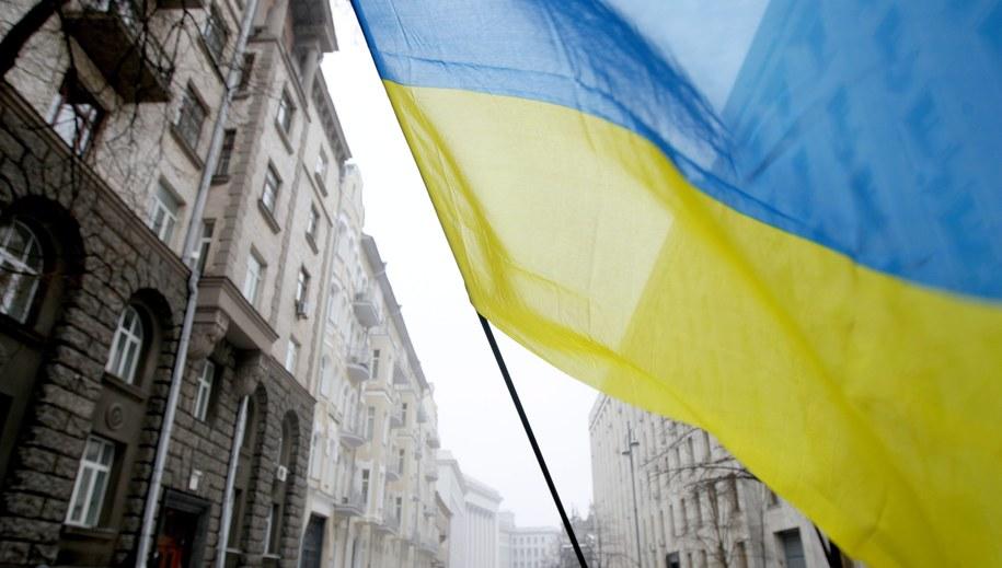 Flaga Ukrainy /ZURAB KURTSIKIDZE /PAP/EPA