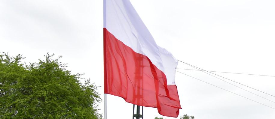 Flaga w drodze do Zakopanego /Paweł Gąsior /RMF FM