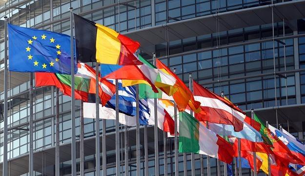 Flagi członków Unii Europejskiej /AFP
