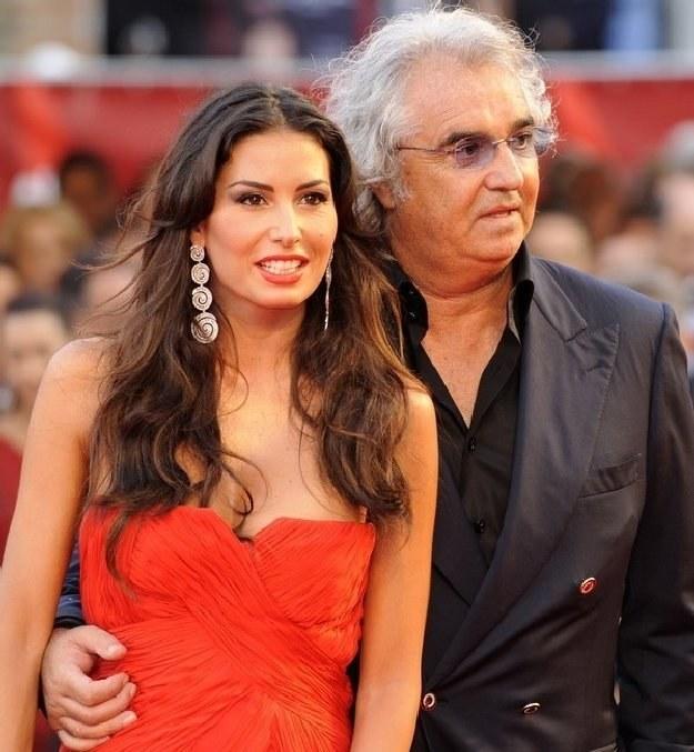 Flavio Briatore z małżonką Elisabettą Gregoraci /AFP