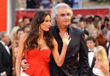 Flavio Briatore z żoną Elisabettą Gregoraci /AFP