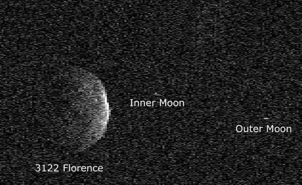 Florence przeleciała i pokazała nam... dwa księżyce