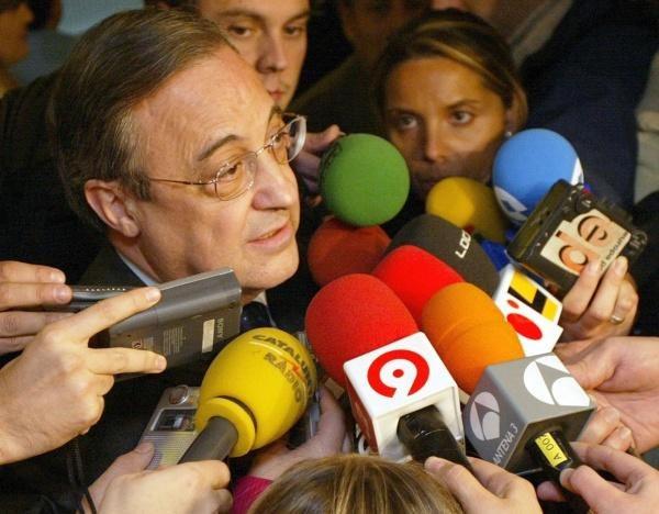 Florentino Perez w ogniu pytań /AFP
