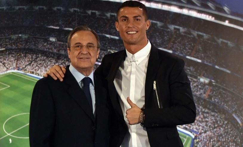 Florentino Perez (z lewej) i Cristiano Ronaldo /AFP