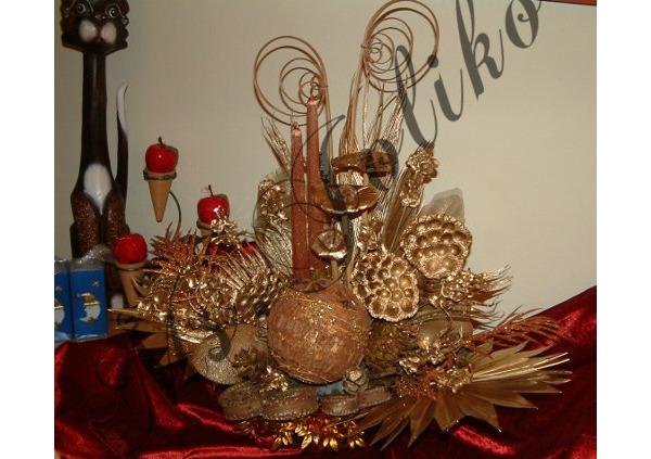 Złoto lotos i cynamon , czyli pachnąca dekoracja dla przyjaciela:))))