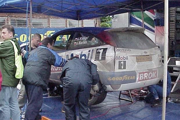 Ford Focus WRC w strefie seriwsowej /INTERIA.PL