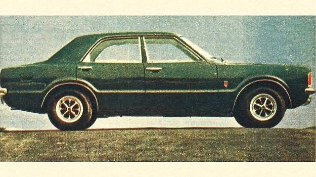 Ford-Taunus, widziany z boku wykazuje pewne podobieństwo rodzinne do samochodu Ford-Capri. /Ford