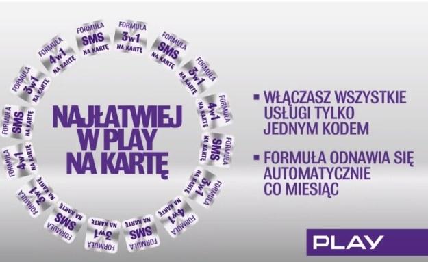 Formuła PLAY na kartę /materiały prasowe