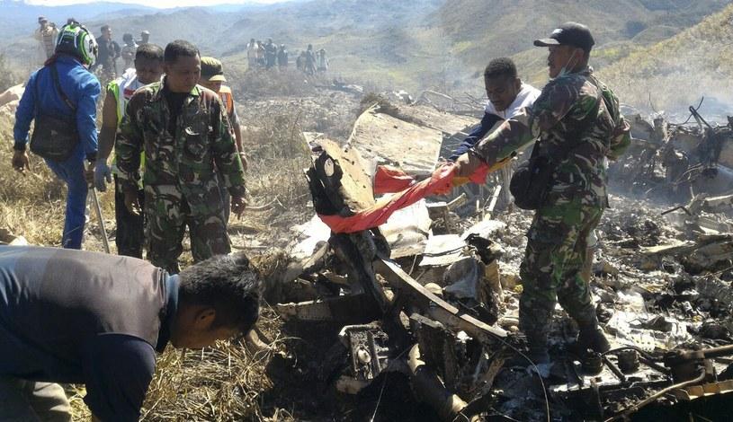 Fot. z miejsca katastrofy /PAP/EPA
