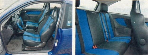 Fotele kubełkowe Sparco pozwalają bez obaw wykorzystać drzemiące pod maską ponad 200 KM. Gorzej, jeżeli wieziemy kogoś na tylnej kanapie. /Motor