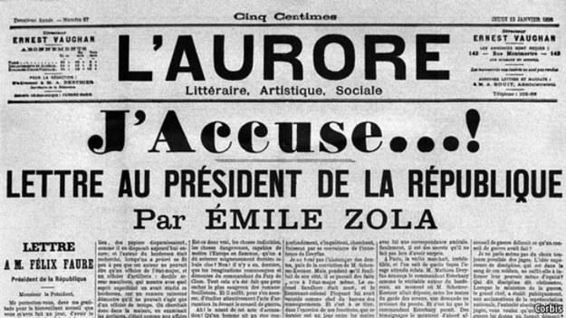 Fragment gazety, w której ukazał się list Zoli do prezydenta /materiały prasowe