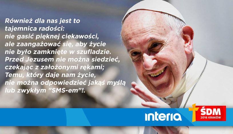 Fragment kazania Franciszka /INTERIA.PL