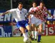 Fragment meczu Chorwacja - Grecja