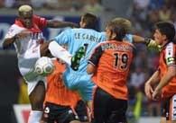 Fragment meczu Lorient - Monaco