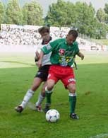 Fragment meczu Śląsk - Legia (1:0) /Maciej Cepin/RMF