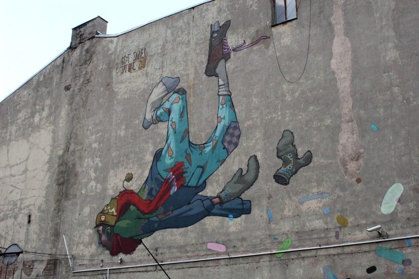 Fragment muralu przy al. Kościuszki 27 (autorzy: SAT ONE/ETAM CREW) /Ewelina Karpińska-Morek /INTERIA.PL