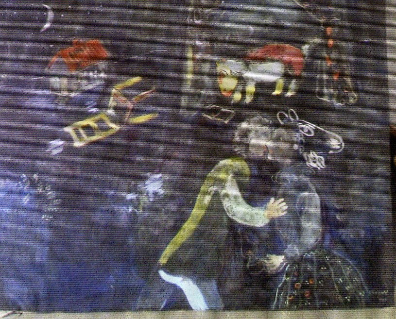 Fragment obrazu Marca Chagalla. Dzieło znaleziono w mieszkaniu Corneliusa Gurlitta /AFP